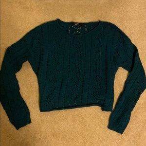 Dark green cropped thin sweater WORN ONCE